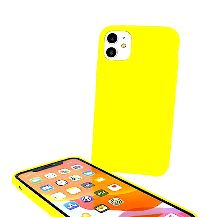cover iphone 8 silicone gialla